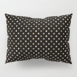 Gold & Black Polka Dots Pillow Sham