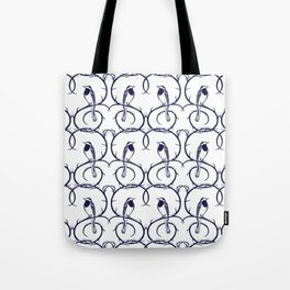 Love Birds Pattern Tote Bag