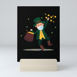 Leprechaun St. Patricks Day Money Irish Ireland Gift Mini Art Print