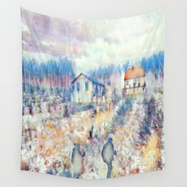 Hiking On Plaid Days Wall Tapestry