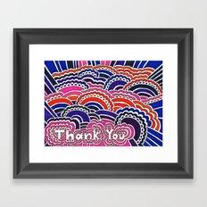 Thank You Drawing Meditation Framed Art Print