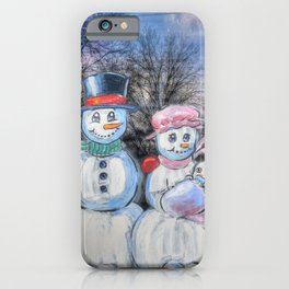Snowman Family iPhone Case