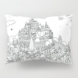 Mont Saint Lapino - Line Art Pillow Sham