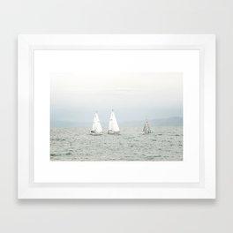 Sailing Bear Lake Framed Art Print