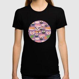 Kawaii sushi purple T-shirt