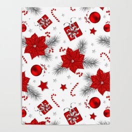Christmas decoration pattern Poster