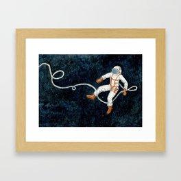 Astronaut Floating Through Space Framed Art Print