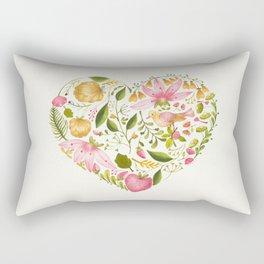Floral Heart Rectangular Pillow