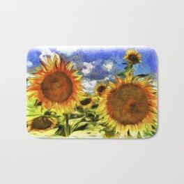 Sunflowers Vincent Van Goth Bath Mat