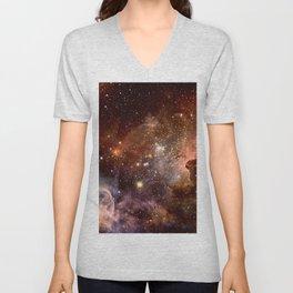 Carina Nebula Earth Tones Unisex V-Neck