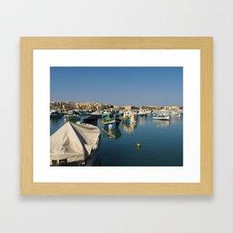European Boats Framed Art Print
