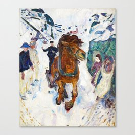 Galloping Horse by Edvard Munch Canvas Print