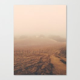 Shed in the Fog Canvas Print