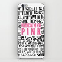 mean girls iPhone & iPod Skins featuring Mean Girls Quotes by TurquoisedHearts
