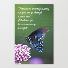 Beautiful Butterfly Quote Canvas Print