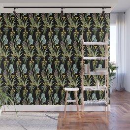 Irises 2 | Iris Flowers | Vintage Floral Pattern | Flower Patterns | Wall Mural