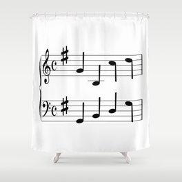 Music Chord Shower Curtain