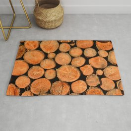 stack of wood Rug