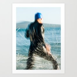 Triathlete 1 Art Print