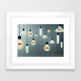 Ideas and Goldfish 04 Framed Art Print