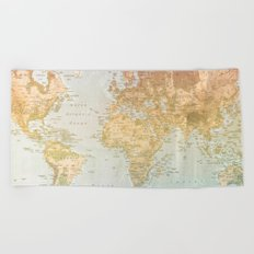 Pastel World Beach Towel