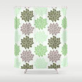 Echeveria Succulents Shower Curtain