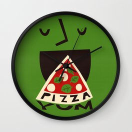 Yum Pizza Wall Clock