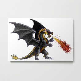 Might And Magic Black Dragon Metal Print