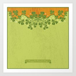 Irish Clover Pattern Art Print
