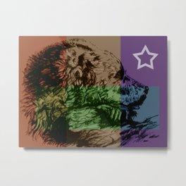 Bear Country Flag Metal Print