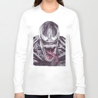 venom Long Sleeve T-shirts featuring Venom by DeMoose_Art