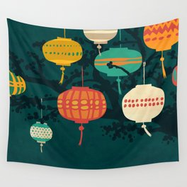 Lanterns Wall Tapestry
