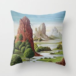valley water Throw Pillow