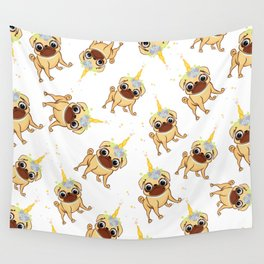 Magic pug dog life Wall Tapestry