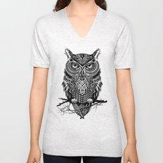 Warrior Owl 2 Unisex V-Neck
