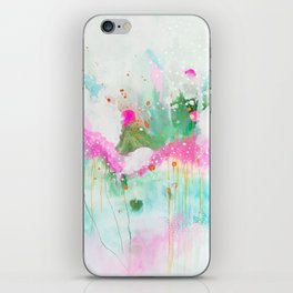 dream space, abstract painting iPhone Skin