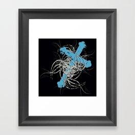 Grunge Cross Framed Art Print