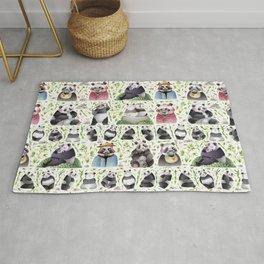 Pandas pattern Rug