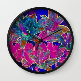 Color lilies  Wall Clock