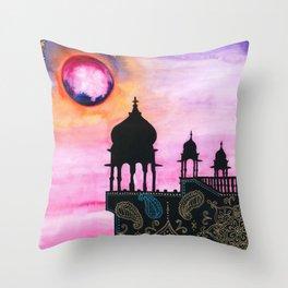 Rajasthan Sunset Throw Pillow