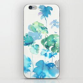 Tropical leaves, (collab Dylan Silva!) iPhone Skin