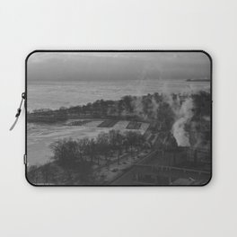 Gray Sky, Icy Lake (Chicago Winter Collection) Laptop Sleeve