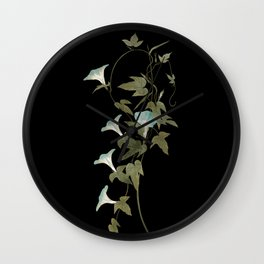 Morning Glories Wall Clock