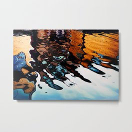 Reflections in the Harbour Metal Print
