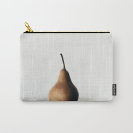 Pear on White Carry-All Pouch
