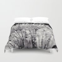 silver Duvet Covers featuring silver by Bonnie Jakobsen-Martin