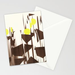 abstract blurred figures Stationery Cards