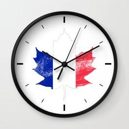 France/Canada Wall Clock