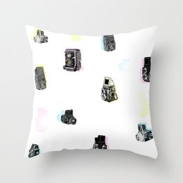 hasselblad pattern Throw Pillow