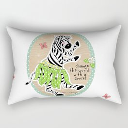 Change the World with a Smile Rectangular Pillow